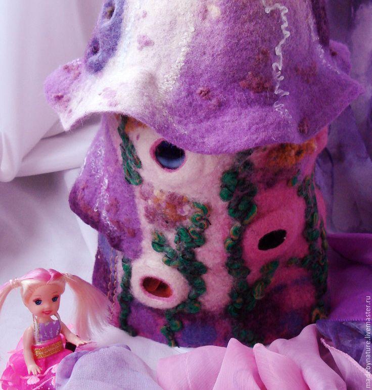 """Купить Светильник - домик для фей """"Колокольчик"""". - розовый, сиреневый, домик для…"""