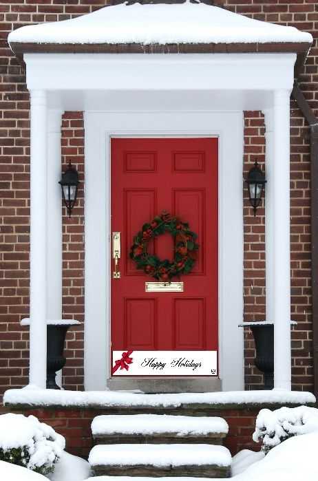 Ring In The Christmas Cheer And Holiday Season With This Temporary Magnetic Door  Kick Plate From