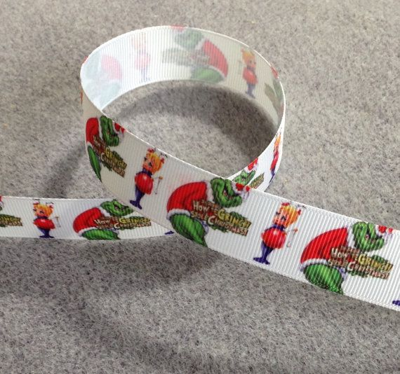 3 yards grosgrain ribbon 7/8 inch wide How the Grinch Stole