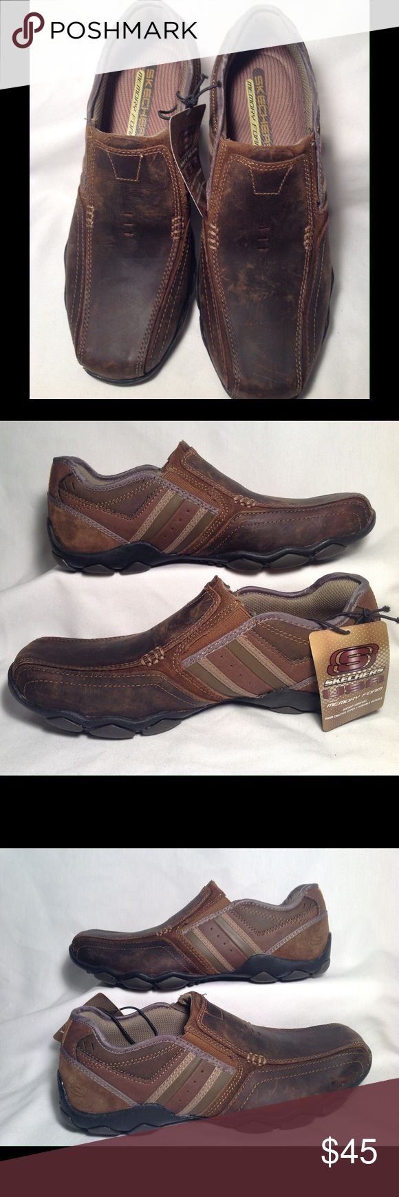 Skechers Diameter Zinroy Men's Slip-On Shoes Classic casual style comes with custom comfort in these Skechers slip-on shoes. In brown. These shoes are new from store display and have not been tried on or worn. Skechers Shoes Loafers & Slip-Ons