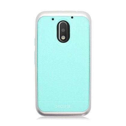 WEMO Hybrid Bumper Motorola Moto G4/G4 Plus Case - Mint/Silver