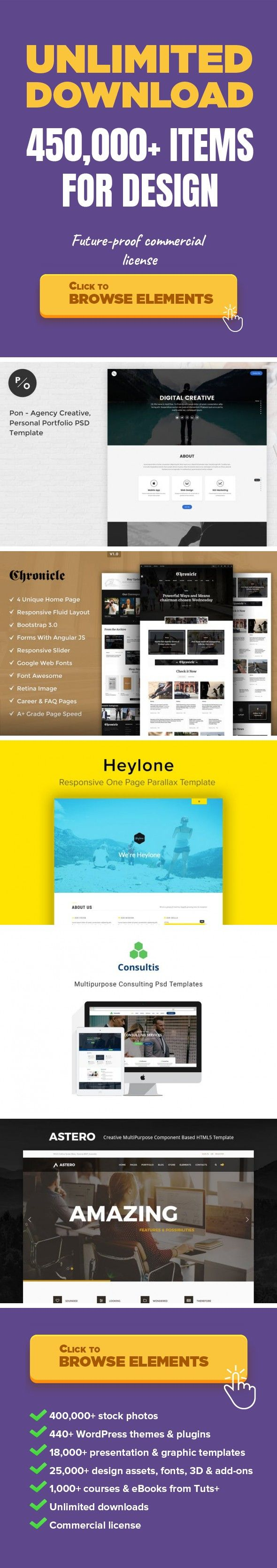 photography resume%0A Pon  Responsive Personal Portfolio PSD Template Web Templates  Site  Templates agency  clean