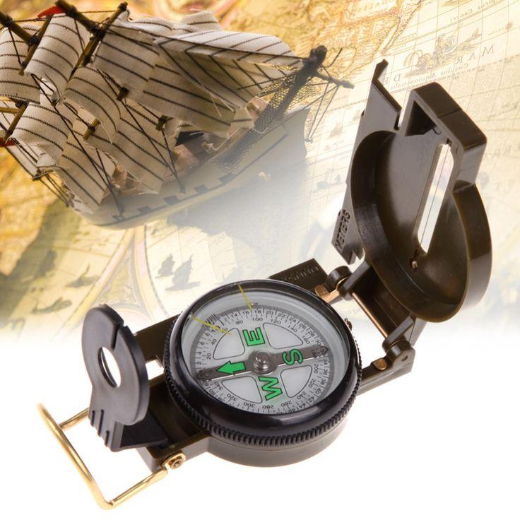 Portatile Army Green Pieghevole Bussola Lens Americana Militare Multifunzione Bussola Barca Compass Dashboard Dash Mount
