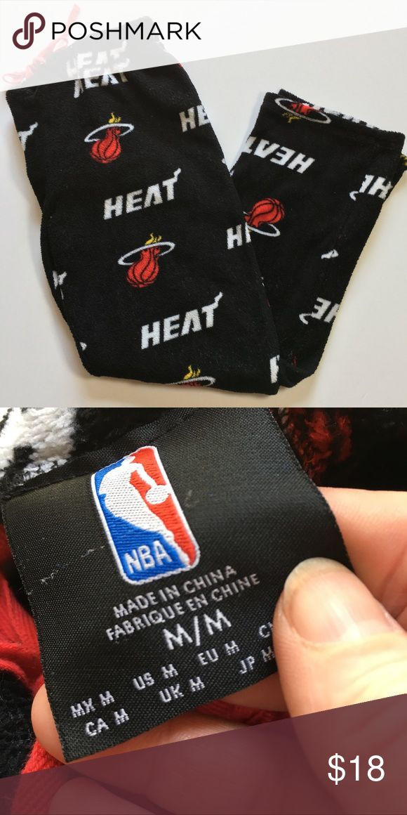NBA Miami Heat Basketball Sleep Pants Official NBA product.  Miami Heat terry fleece. Good condition - no flaws. Size Medium. NBA Intimates & Sleepwear Pajamas