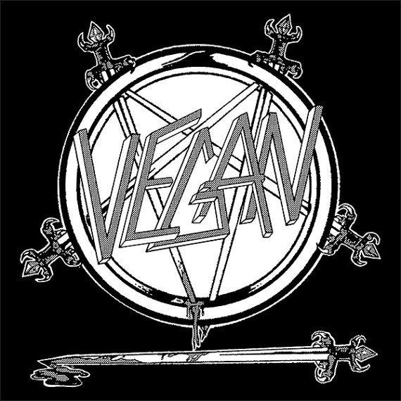 T-Shirt: VEGAN (Slayer Logo) by hungryknife, $18.00