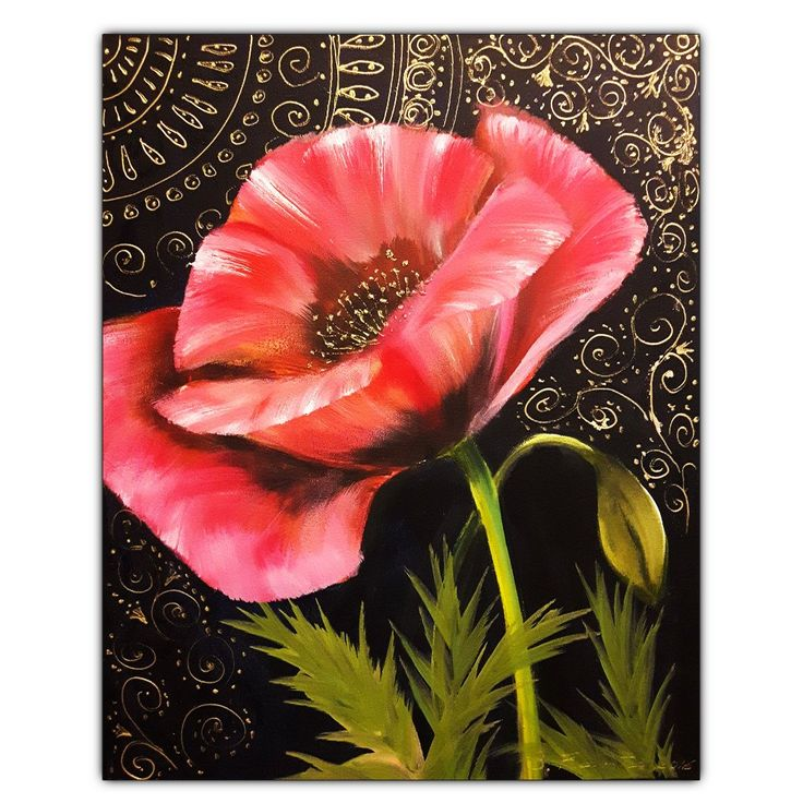 """Painting """"Poppy"""" - Quilting Paradise"""