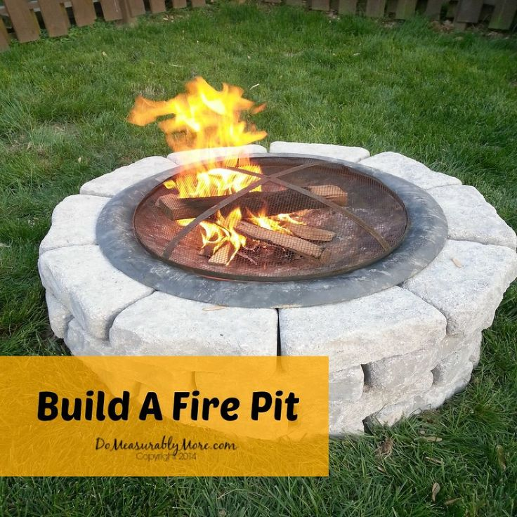 Build A Fire Pit- although I think I'd have gravel or rock extending out a little further from the bricks.