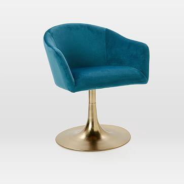 $400 Bond Upholstered Swivel Office Chair #westelm