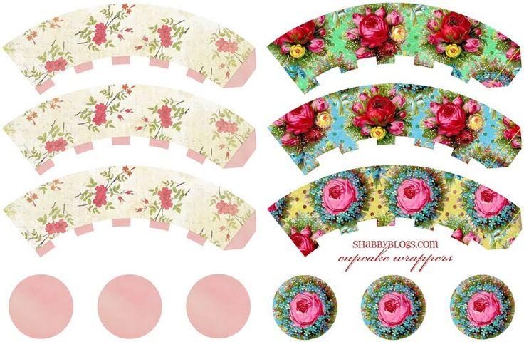 Shabby Blogs: Cupcake Wrapper Freebie