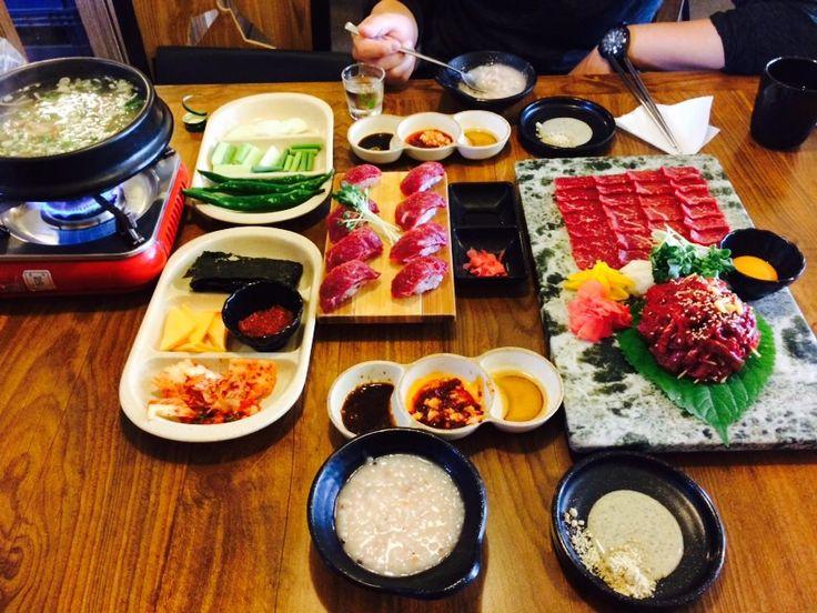 #떡볶이#Korean Food#먹터레스트 평택역 역전육회 Korean-style raw beef