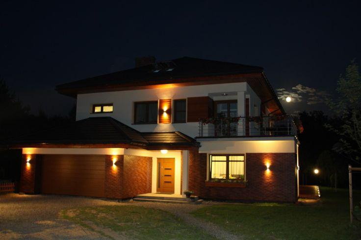 Projekt domu Topaz 3 nocą