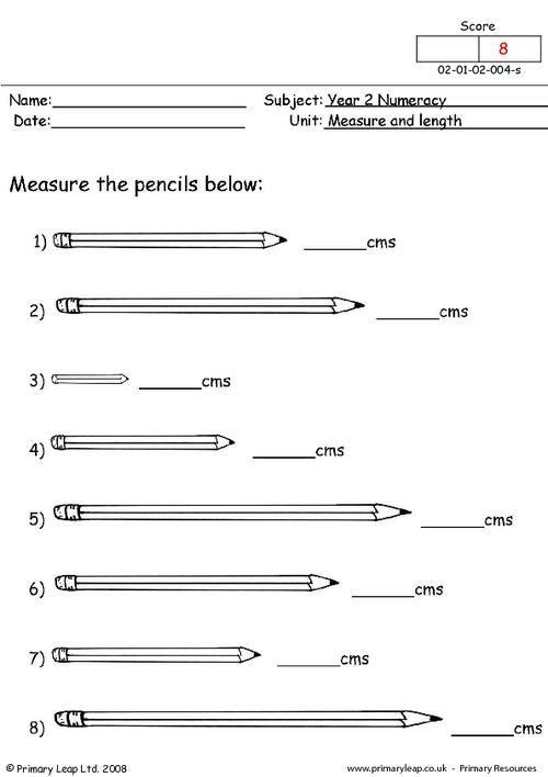 measure and length worksheet skool. Black Bedroom Furniture Sets. Home Design Ideas