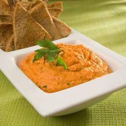 Pittig Geroosterde Rode Paprika Hummus recept | Smulweb.nl