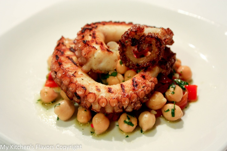 Octopus and chickpeas salad, my heaven
