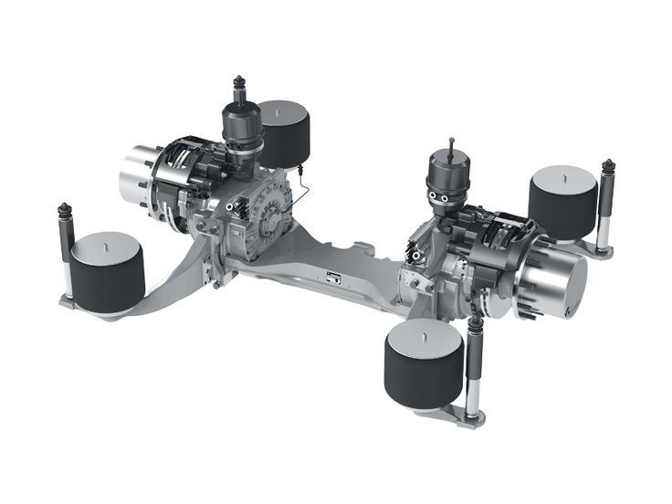 Rear Axle System Ave 130 The Electric Driven Low Floor