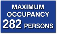 "Maximum Occupancy of Room ADA Signs - 12""x7"" - from ADA Sign Depot - the Trusted Source for American Made ADA Signs and Products"