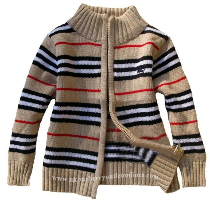 Burberry Kid Classic Check Sweater Khaki [Burberry Kid Coat 042] - $85.00 : Burberry Outlet Stores,Burberry Outlet Online,Cheap Burberry For Sale