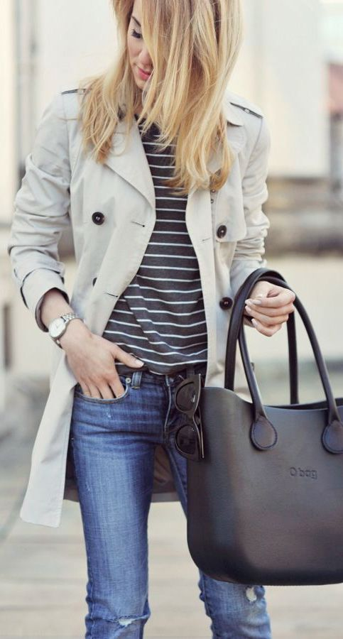 Classic stripes + trench
