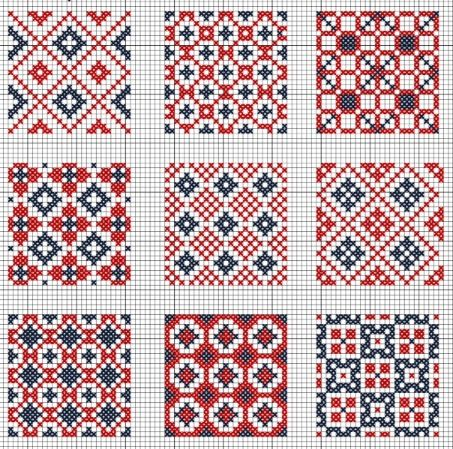 COUNTRY MINI QUILT BLOCKS