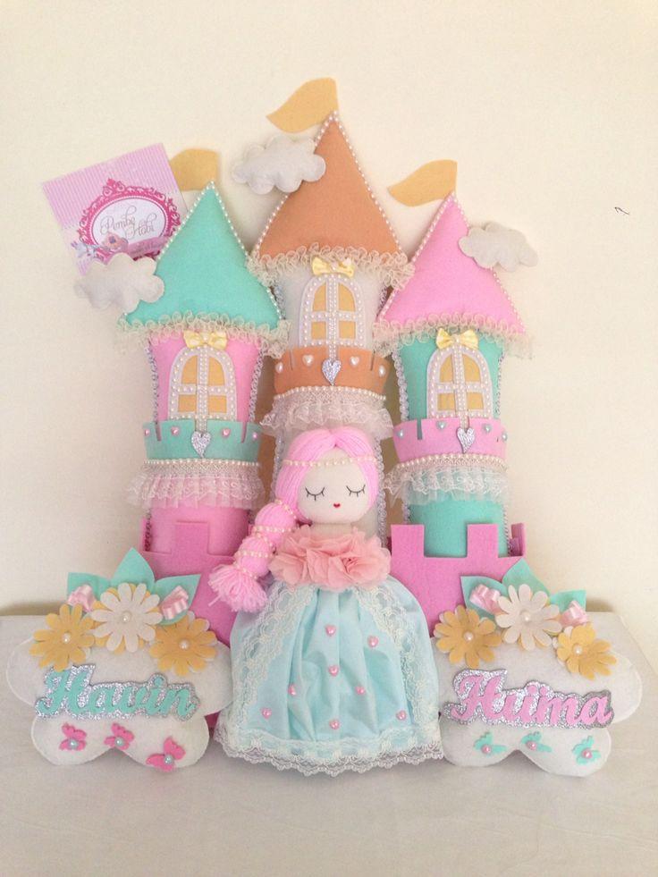 Şato prenses bebek kapı süsü