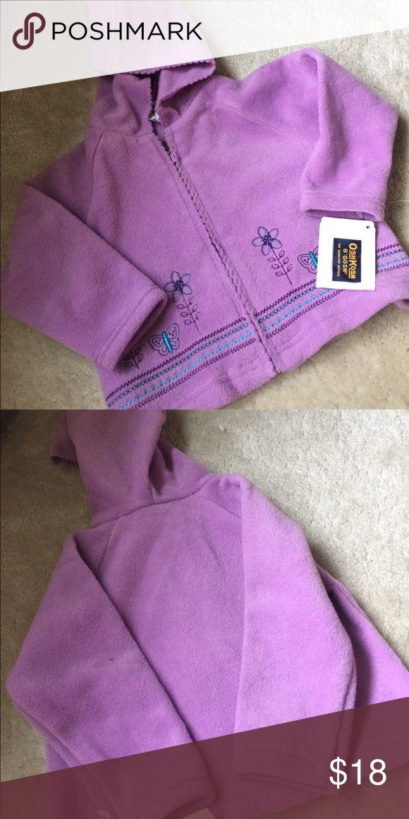 Nwt Oshkosh Fleece Pretty purple zip up OshKosh B'gosh Shirts & Tops Sweatshirts & Hoodies