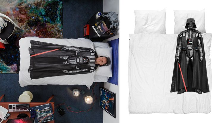 Ook voor grote Star Wars Fans! Nu te koop online: SNURK Darth Vader dekbedovertrek 2 persoons Star Wars beddengoed