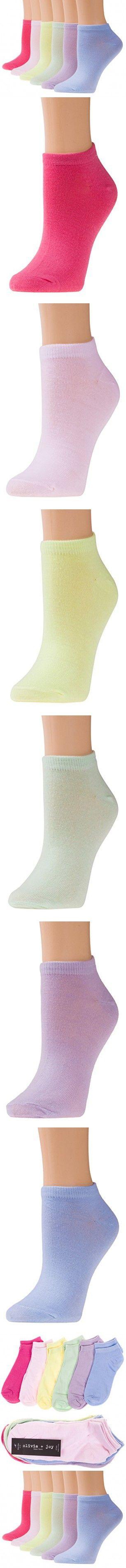 Olivia & Joy Womens Low Cut Fitness Workout Athletic Socks 6PK Pink Medium
