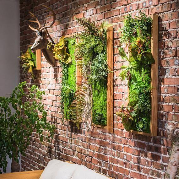 Vertical Garden Diy Indoor Wall Art Plant Wall Art Artificial Plant Succulent W Art Artifici In 2020 Vertical Garden Wall Succulent Wall Art Artificial Plant Wall
