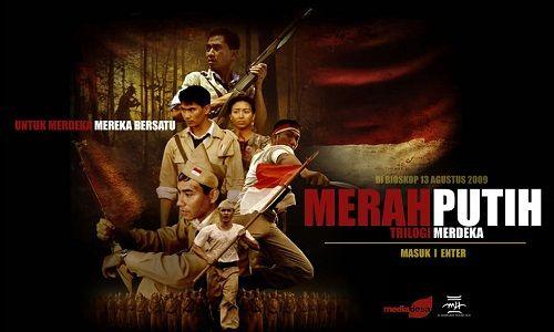 Merah Putih   Berlatar sejarah otentik perjuangan Indonesia untuk kemerdekaan pada tahun 1947 ketika terjadi Agresi Militer Belanda pimpinan Van Mook yang menyerang jantung kaum republik di Jawa Te...