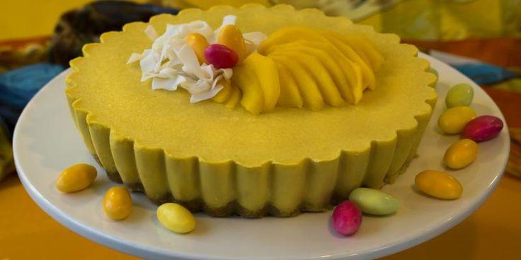 Mangosmoothiekakku | Myllyn Paras näyttävää ja helppoa - tässä oikea kahvipöydän kruunu.
