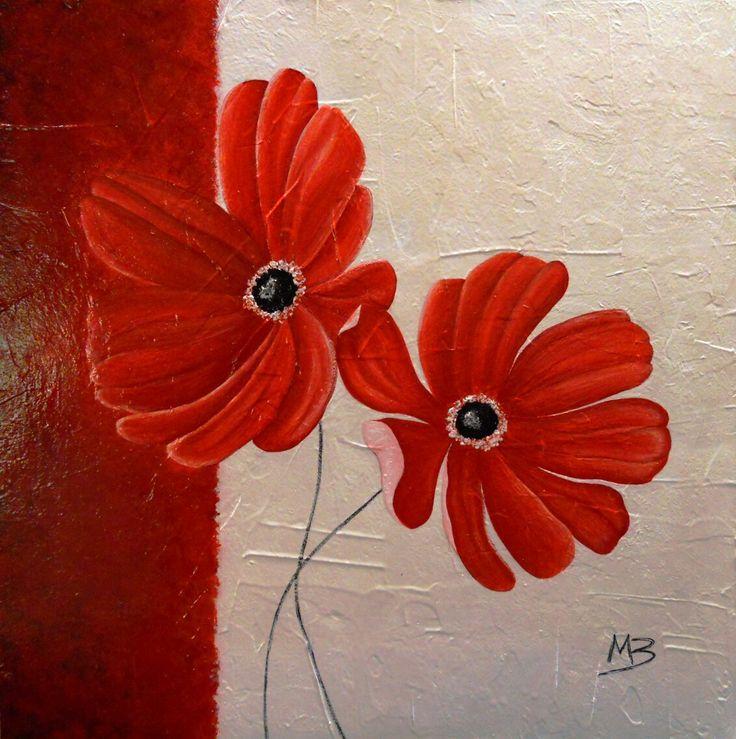 Fiori rossi  Copia 30x30cm