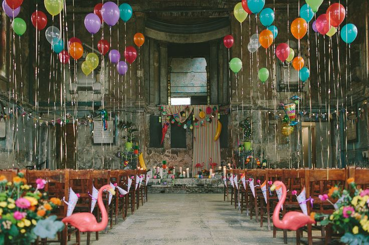 Pinapples, Flamingos and all the Colours of the Rainbow: A Tropical South East London Wedding