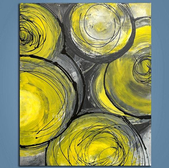 Grey & Yellow