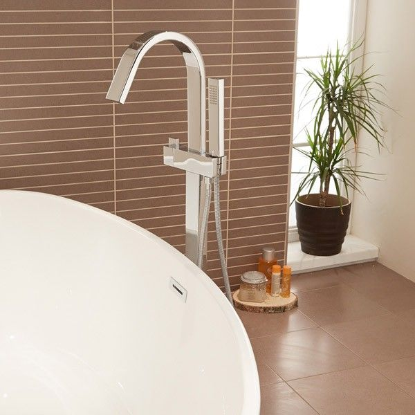 The freestanding tap is immaculately designed with its clean cut defined edges, smooth body finish, and Chrome Coating. This freestanding tap is set apart from the rest by its cubic nature and beautiful Ceramic Disc Technology.