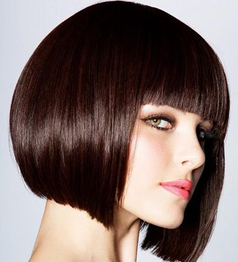 blunt cut hair...-pin it from carden