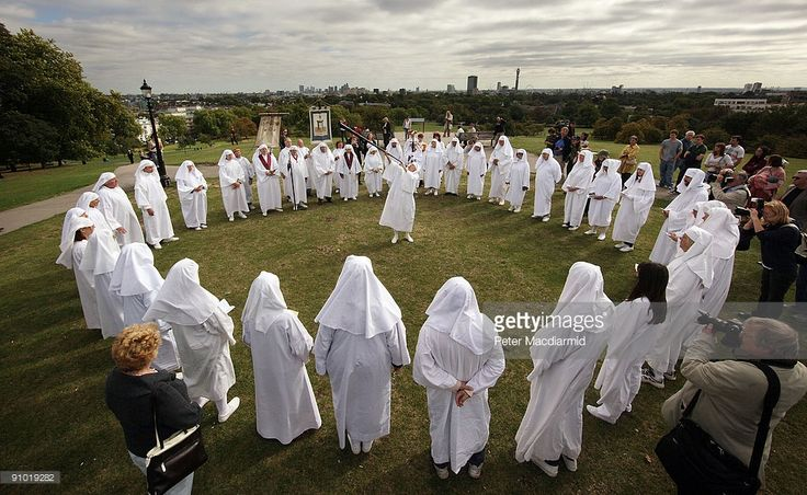 Druids celebrate the Autumn equinox on Primrose Hill on September 22, 2009 in London, England. The ceremony is one of three events staged by the order with the Spring Equinox ceremony at Tower Hill and the Summer Solstice held at Stonehenge.