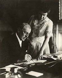 Edith Bolling Galt Wilson, the 2nd wife of U.S. President Woodrow Wilson, was so influential in his work that when he fell ill with a stroke in 1919 she took over his duties as President, and she is refered to as the first female U.S. president.