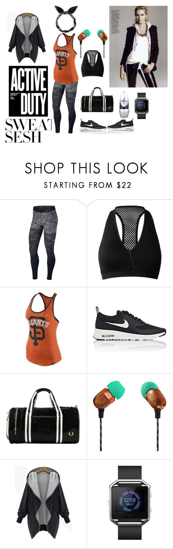 active duty by paisleyvelvetandlace on Polyvore featuring NIKE, John Lewis, Fitbit and The House of Marley