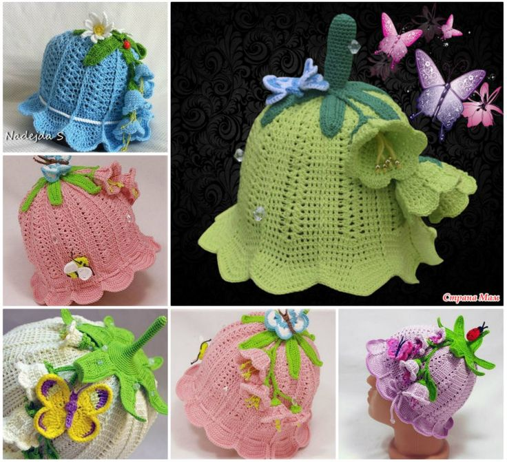 How cute are these crochet baby Bluebell Hats !  Check free patten--> http://bit.ly/1xtezO1