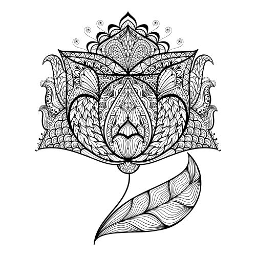 Highly Detailed Magic Flower Coloring Page Just For You Lets Go On An Amazing