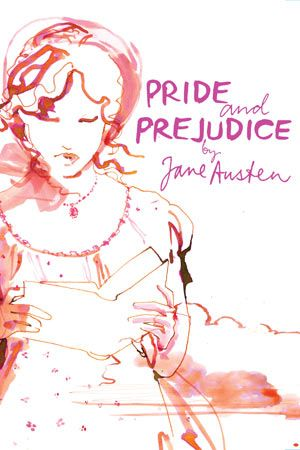 "Book cover of ""Pride and prejudice"", illustrated by Fashion illustrator Sara Singh"