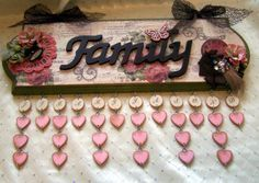 "What an awesome idea ~ family birthday calendar wall hanging | Dawna's Place: ""Love Family Time"" Vintage Forever Birthday Calendar"
