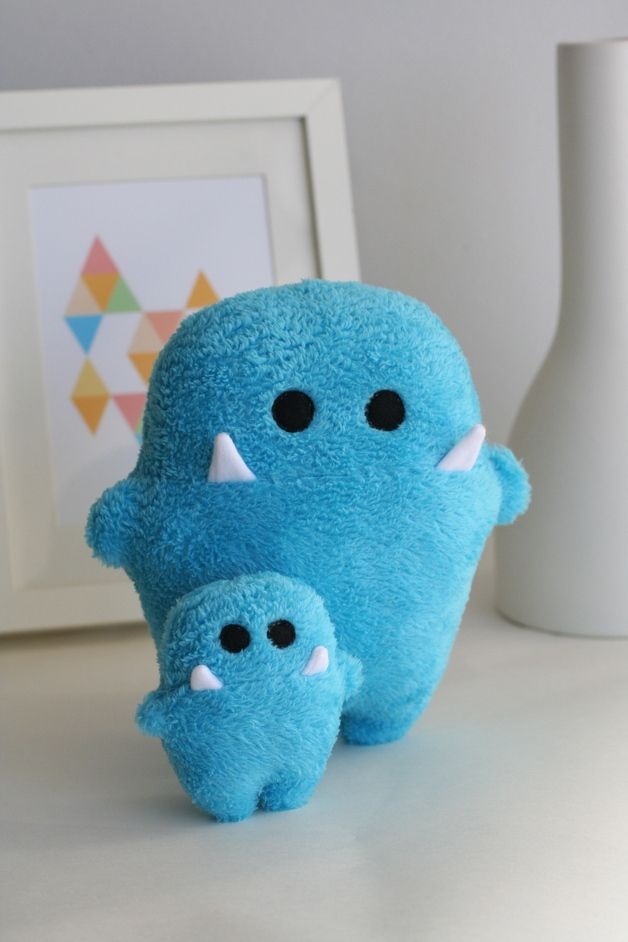 "Kuscheltiere Monster ""Siggi"" // Cuddle toy monster ""Siggi"" by enFant design via DaWanda.com"