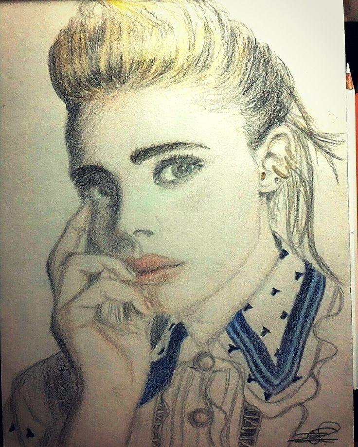 Chloe Grace Moretz attempt    Color pencils...  #drawing #sketch #portrait #art