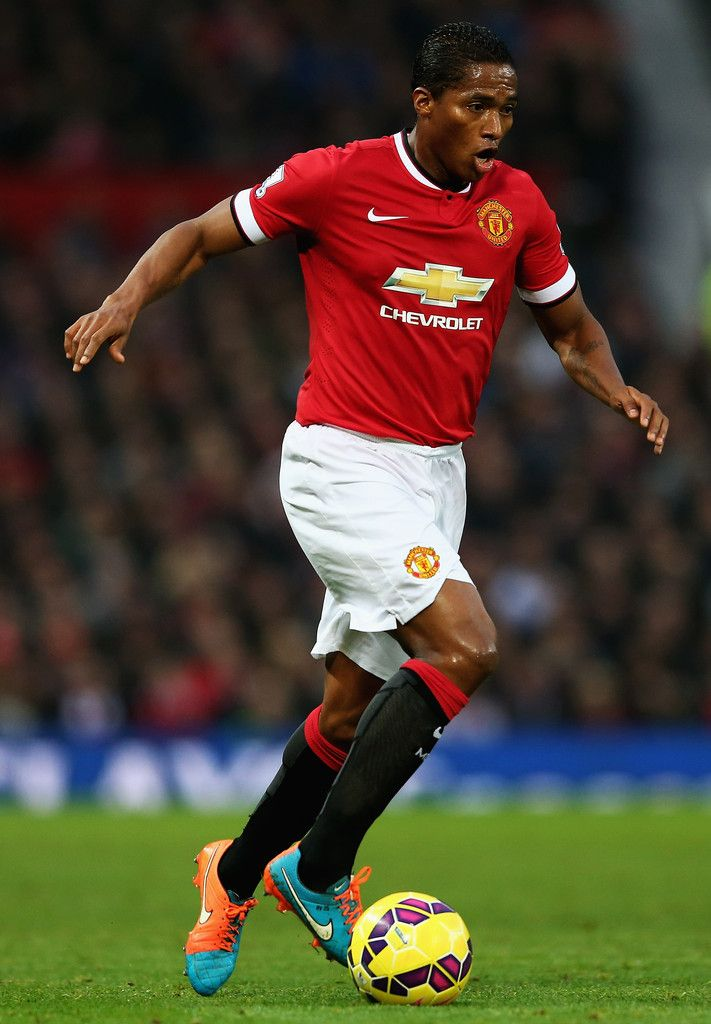Antonio Valencia of Manchester United in action during the Barclays Premier League match between Manchester United and Hull City at Old Trafford on November 29, 2014 in Manchester, England.
