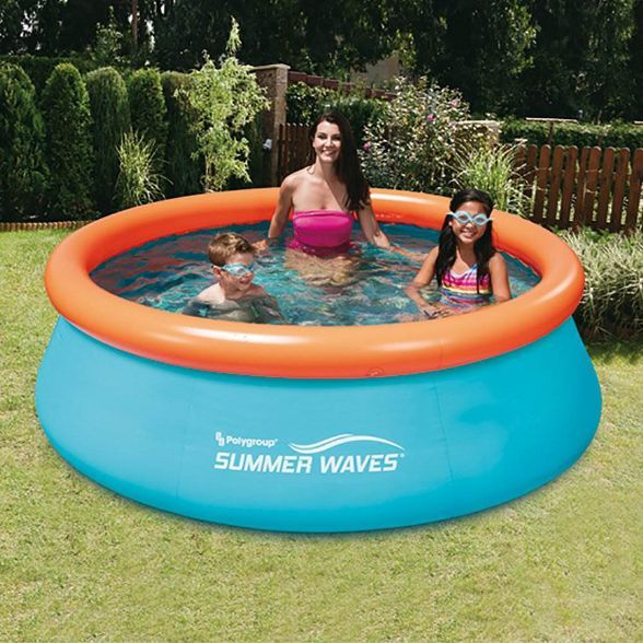 Summer Waves 8ft X 30in Small Kiddie Inflatable Kids Above Ground Swimming Pool Target In 2020 Summer Waves Kid Pool Inflatable Swimming Pool