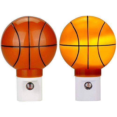 Plug in LED Night Light with Dusk to Dawn Sensor Emotionlite Basketball Kit for NBA fun Warm White 2700K Pack of 2 -- Visit the image link more details.