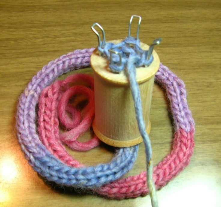 French Knitting - I would be occupied for hours making small rugs, bags and clothes for my dolls.