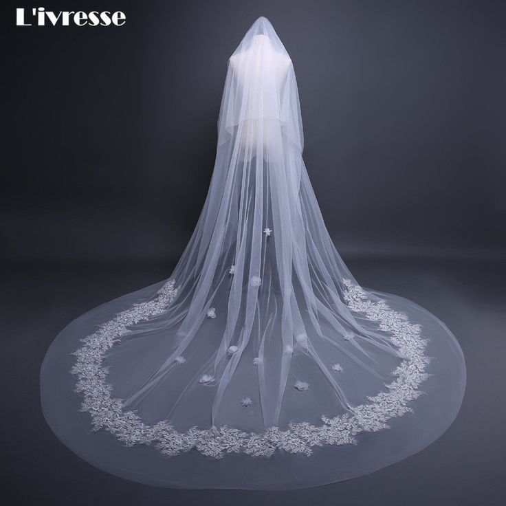 >> Click to Buy << Elegant Bridal Veils 2 Layer Ivory Long Wedding Veil With Comb Appliques Wedding Accessories Voile Marier Bruidssluiers #Affiliate