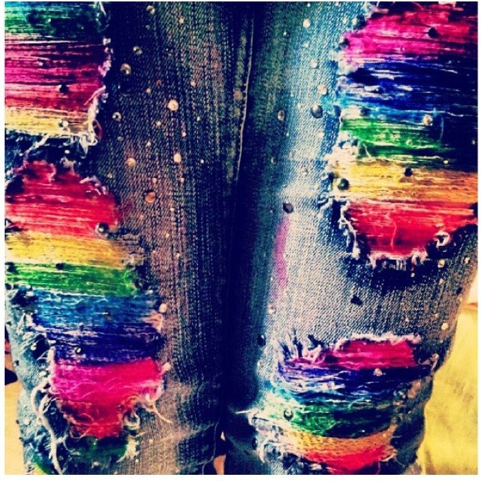 Tie dye jeans (: this is so me